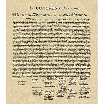 Förklaring av självständighet Khaki affisch Skriv (14 x 16)