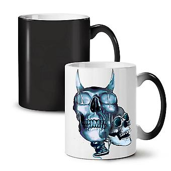 Devil Metal Scream Skull NEW Black Colour Changing Tea Coffee Ceramic Mug 11 oz | Wellcoda