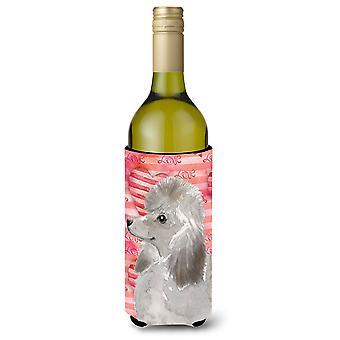 Caniche gris amor botella de vino Beverge aislador Hugger