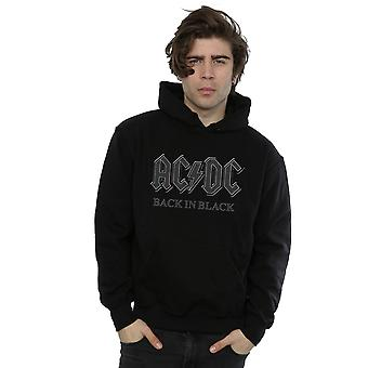 AC/DC muži ' s späť v čiernom Hoodie
