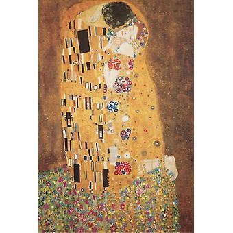 Klimt The Kiss Poster Poster Print