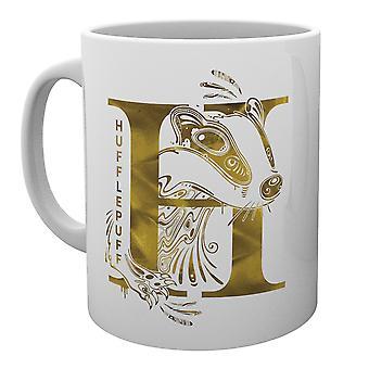 Harry Potter Hufflepuff Monogramm Mug