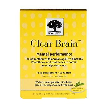 New Nordic Clear Brain, 60 Tablets