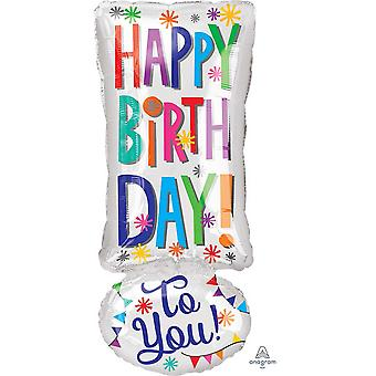 Anagram Junior Happy Birthday To You Foil Balloon 25in