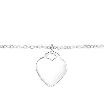 Heart - 925 Sterling Silver Chain Bracelets - W32125x