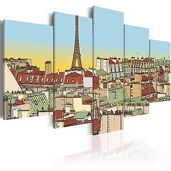 Canvas Print - Idyllic parisian picture