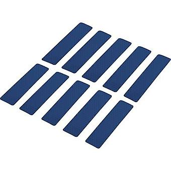 Conrad komponenter RTS25/100-BL 1282798 självhäftande remsor RTS blå (L x b) 100 mm x 25 mm 10 st (s)