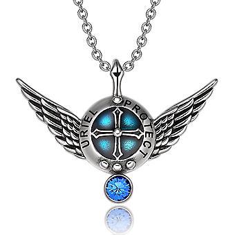 Erzengel Engelsflügel Uriel Schutzschild magische Kraft Amulett Anhänger Halskette