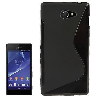 S linje TPU case taske til Sony Xperia M2 S50h sort