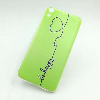 Mobile Shell for Huawei Y6 være glad grøn taske dækning TPU case + 1 x tank beskyttelse glas