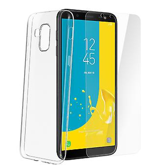 Back case + Screen Protector Tempered Glass Clear Samsung Galaxy J6