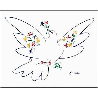 Dove of Peace - Blue Poster Print by Pablo Picasso (28 x 22)