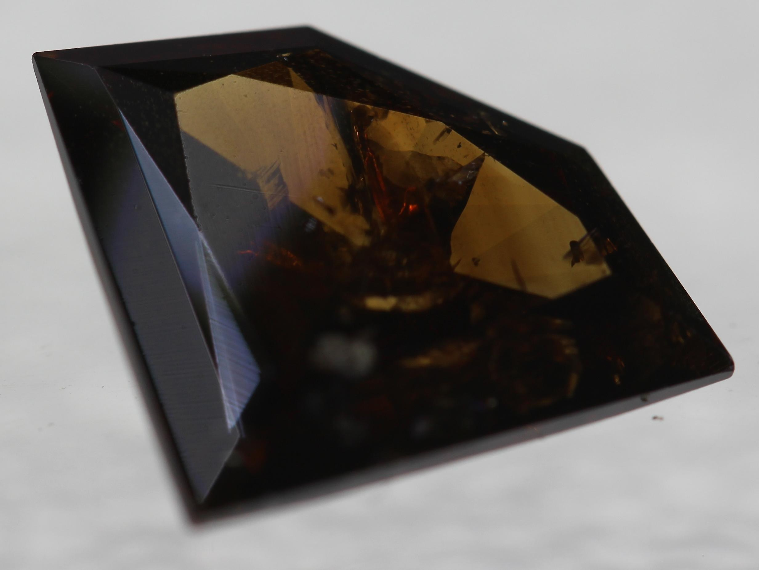 Certified 2.12 Carat Vivid Brown Shield Natural Loose Diamond 11.89x9.96mm 2VG