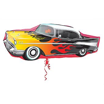 Amscan Supershape 50s Rockin Car Shaped Foil Party Balloon