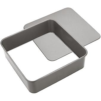 Judge Bakeware, Square Cake Tin, Loose Base, 25 X 25 X 7cm, (10 X 10 X 2�inch)