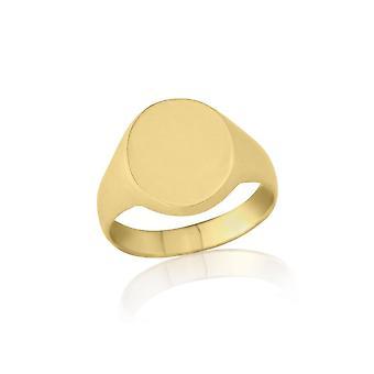 Boda estrella anillos ovalados ct 9 peso mediano oro amarillo anillo de sello