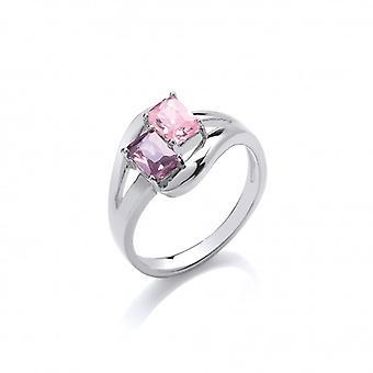 Cavendish Francia ' Color Me gyönyörű ' Twin cz gyűrű