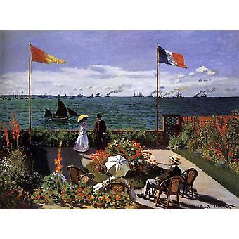Garden at Sinte-Adresse,Claude Monet,50x40cm