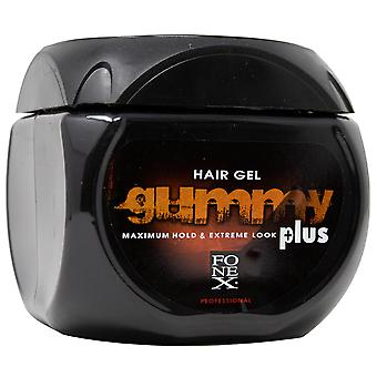 Gummy Men's Hair Gel, Maximum Hold Extreme Look Plus, 23.5