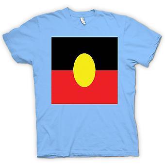キッズ t シャツ-オーストラリアのアボリジニの旗
