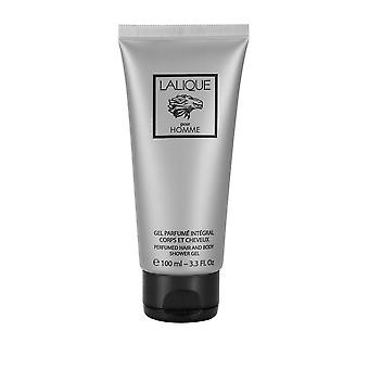 Lalique Pour Homme Perfumed Hair & Body Shower Gel 100ml