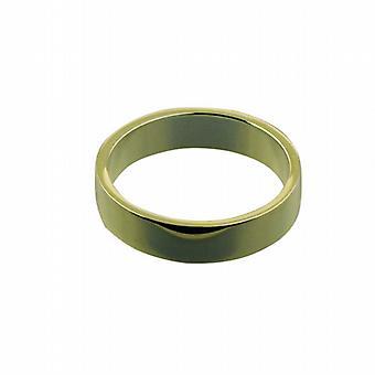 18ct Gold 5mm plain flat Wedding Ring Size Z