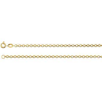 14k Yellow Gold Chain Bracelet 7 Inch Bijoux Cadeaux pour les femmes - 1.5 Grammes