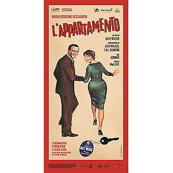 The Appartment Poster L' APPARTAMENTO Italian movie poster (Shirley Mac Laine, Jack Lemmon, Fred Mac Murray)