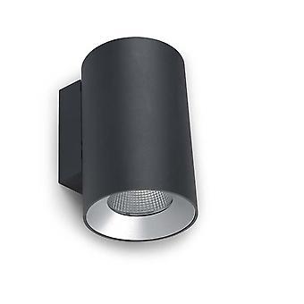 Kosmos Urban grå liten dubbel LED utomhus vägg ljus - lysdioder-C4 05-9953-Z5-CL