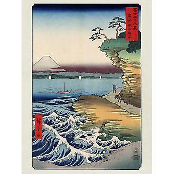 Hiroshige prints of the coast at Hota in Awa province paper 250 gr. Matt small format
