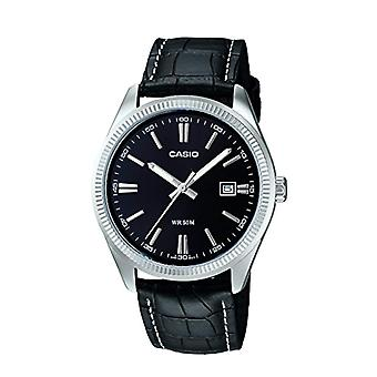 Casio analog quartz Mens watch with leather MTP-1302L-1av