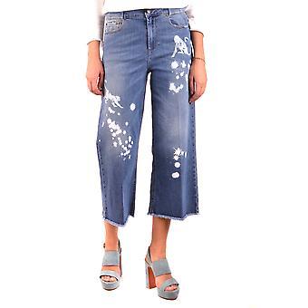 Red Valentino Ezbc026057 Women's Blue Cotton Jeans