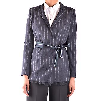 Pinko Ezbc056184 Kvinder's Blå acetat blazer