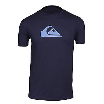 Quiksilver Mens Comp Logo T-Shirt-Navy
