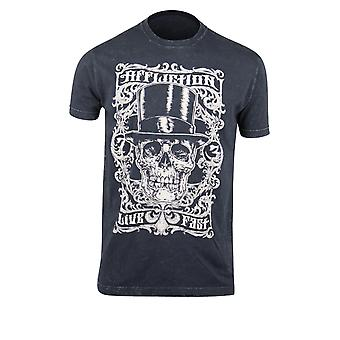 Affliction Mens Draculas Frame T-Shirt - Black