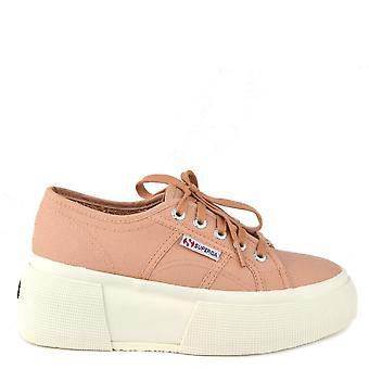 Superga 2287 Cotw Up5 Rose Mahogany Platform Trainer