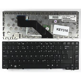 ポインター黒英国レイアウトの交換ノート パソコンのキーボードの HP ProBook 6440B