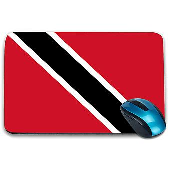 i-Tronixs - Trinidad and Tobago Flag Printed Design Non-Slip Rectangular Mouse Mat for Office / Home / Gaming - 0179