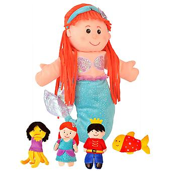 Fiesta Crafts Little Mermaid Hand and Finger Puppet Set