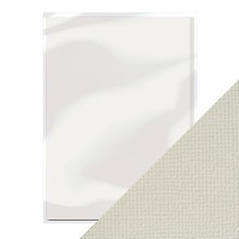 Handwerk perfekt von Tonic Studios A4 Weben strukturierte Karte 10pk Oyster grau