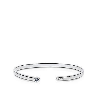 Colorado Rockies Graverad Sterling Silver Vit Sapphire Cuff Armband
