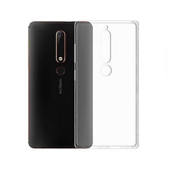 Covers for Nokia 6.1 2018 in transparent rubber