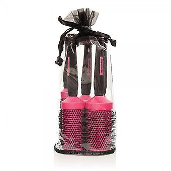 Salon Services Ceramic Brush Set - Pink