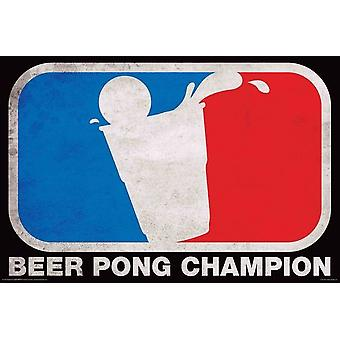 Poster - Beer Pong - Champion Wall Art Licensed Gifts Toys 241180