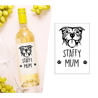 Staffy mama sticla de vin Label