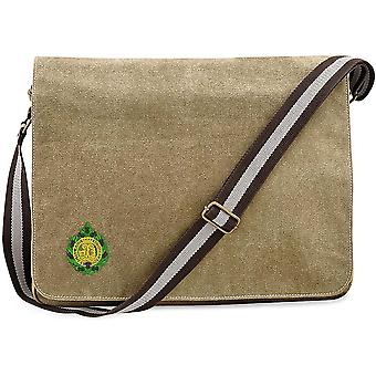 Argyll & Sutherland Highlanders-licensierad brittisk armé broderad Vintage canvas Despatch Messenger Bag
