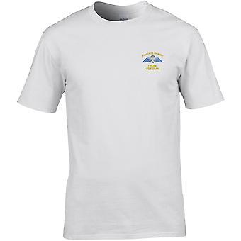 1 PARA 1ste fallskjerm regiment Wings-veteran-lisensiert britisk hær brodert Premium T-skjorte