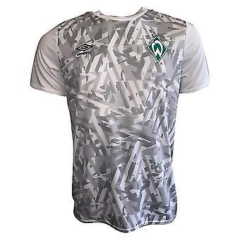 2019-2020 Werder Bremen Umbro Warm Up Shirt (White)