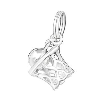 Basketball - 925 Sterling Silver Charms with Split ring - W20012X