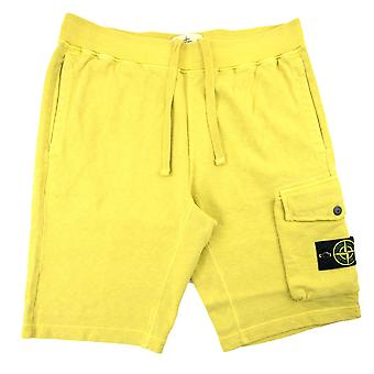 Stone Island 65860 plagg färgade shorts gul V0138